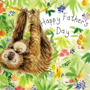FIZ35 - Happy Fathers Day Card Sloths